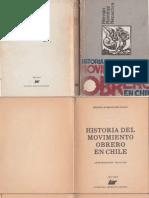 Hernan Ramírez Necochea Historia del movimiento obrero en chile