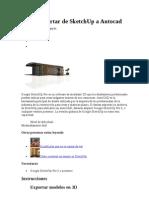 Cómo exportar de SketchUp a Autocad