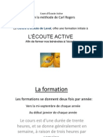 Presentation Cours Ecoute Active