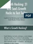 Growth Hacking b2b SaGrowth Hacking