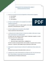 ALMACENAMIENTO DE INFORMACIÓN, REDES Y COMUNICACION DE DATOS