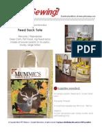 Feed Sack Tote Sewing Pattern PDF