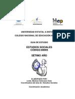 GUÍA ESTUDIOS SOCIALES. SÉTIMO