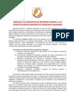 ANÁLISIS A LA INICIATIVA DE REFORMA FEDERAL A LA CONSTITUCIÓN EN MATERIA DE DERECHOS HUMANOS