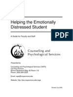 Helping the Emotionally Distressed Student