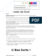 Teste Exel