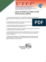 Acuerdos SUTEP - MED - PCM - Documentos 08-13