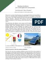 MembraneDistillation Expierience Field Application Potentials SSP Ravello2011