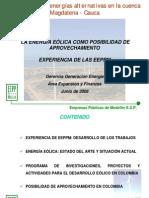 Presentación EPM Eolica Jepirachi