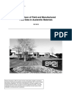 Comparison of Field and Manufactured Flaw Data in Austenitic Materials