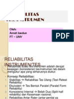 (5) Reliabilitas Tes