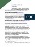 Formulación y nomenclatura de alquenos
