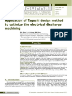 Application of Taguchi design method to optimize the electrical discharge machining