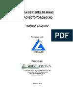 Plan de Cierre - Toromocho