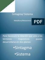 Sintagma Sistema Metafora Metonimia