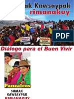 Folleto Para El Encuentro Del Dialogo Para El Buen Vivir