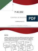 Difusion P-Ac-002 Control de Registros Parte1 o5 Mar 2013