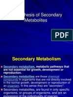 Seconadary Metabolites and Pathways