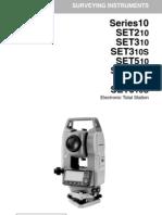 Sokkia Setx10 Instruction Manual