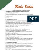 El Panorama de la Bioética Contemporánea. Los Modelos Bioéticos