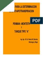 Metodo de Penman y Tanque A