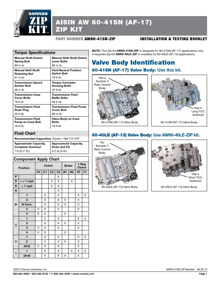 aw60 41sn zip book transmission mechanics wheeled vehicles rh scribd com 60 40 38 Stainless Sink 60 40 Portfolio