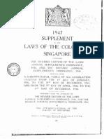 1953 Colonial Secretary Enactment