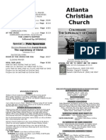 July 28, 2013 Church Bulletin