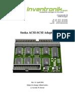 ACSI SCSI Adapter Operating Manual