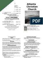 August 25, 2013 Church Bulletin