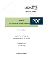 BMA734 International Business Management