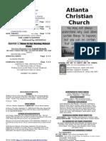 September 1, 2013 Church Bulletin