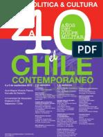 AFICHE Foro  40 años del Golpe, el Chile Contemporáneo. (1)