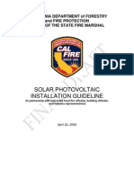Solar Photo Voltaic Guideline Fire Code