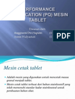 Performance Qualification (Pq) Mesin Tablet