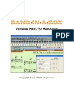 Band in a Box 2006 Manual