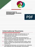 International Business Enviroment Ppt