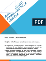 5 Planteamiento Financiero de La Empresa