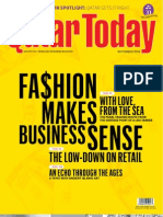 Fashion Makes Business Sense - Cover Story for Qatar Today Sept 2013