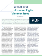 Autism as a Global Human Rights Violation Issue