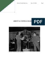 Abbott Costello Radio Log