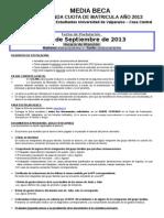 3ra Convocatoria Media Beca de Matricula segunda cuota 2013.doc