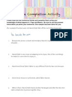 sentence completion activity