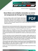 COMUNICADO DE IMPRENSA | NUNO MATOS - ANTEVISÃO BAJA TT PROENÇA-OLEIROS
