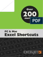 Exceljet Excel Shortcuts