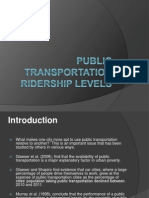 Public Transportation Ridership Levels