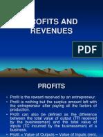 PROFITS, REVENUES