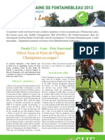 Letter 3 Great Week of Fontainebleau young horses final