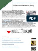 Polonijnepl - Darmowe Ogoszenia Dla Polakow Za - Granica