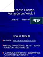 Project and Change Management Lecture 1